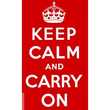 Red Keep Calm and Carry on Flag 5ft x 3ft