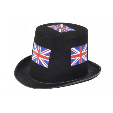Union Jack Black Top Hat
