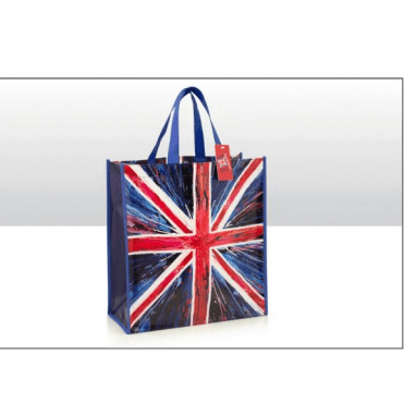Union Jack 'Spin Painting' Shopping Bag