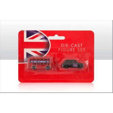 London Bus and Black Cab Taxi Die Cast Models - 4cm