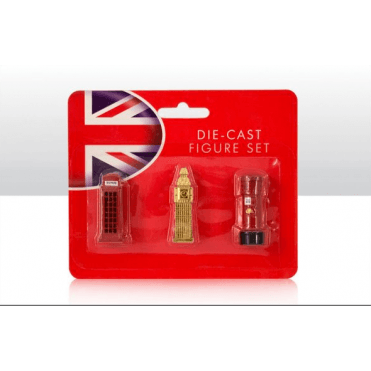 Big Ben, Phone Box & Post Box Die Cast Models - 4cm tall