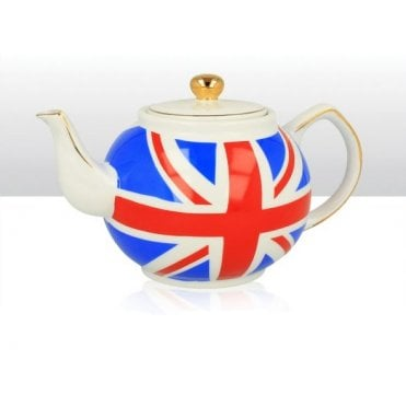 Union Jack Round Tea Pot