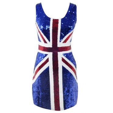 Union Jack Sequined Dress