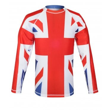 Union Jack Sports Top Long Sleeve Football T-Shirt