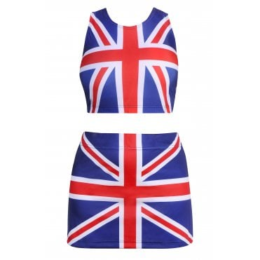 Union Jack Crop Top and Skorts