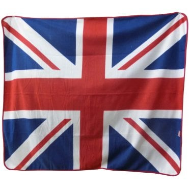Union Jack Fleece Blanket - picnic /car blanket