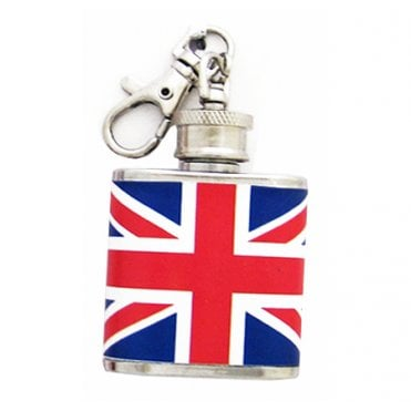 Union Jack Flask Keyring