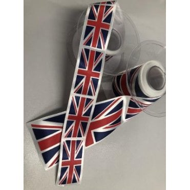 Union Jack Flag Ribbon Red White & Dark Blue