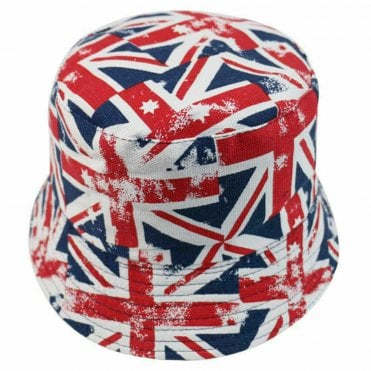 Union Jack Flag Bucket Hat - large flags