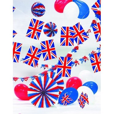 Party Decoration Kit - Union Jack - Great Britian. Inc Garlands, balloons bunting etc
