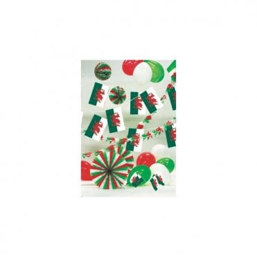 Party Decoration Kit - WALES - St David. Inc Garlands, balloons bunting etc