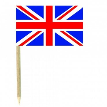 Union Jack Flag Party picks - pack of 50 United Kingdom