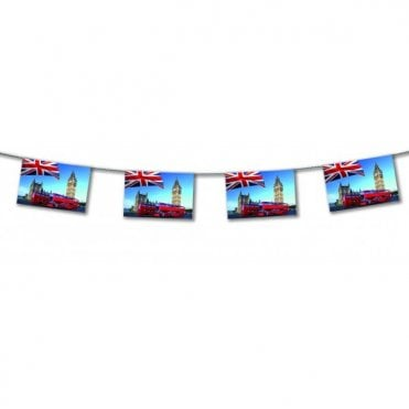 London Bus Paper Bunting 4.5m