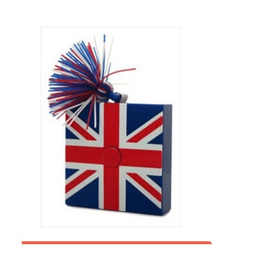 Union Jack Measuring Tape Square with tassle