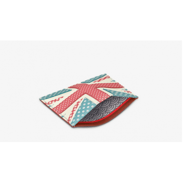 Union Jack Leather Credit Card / Travel Ticket Holder