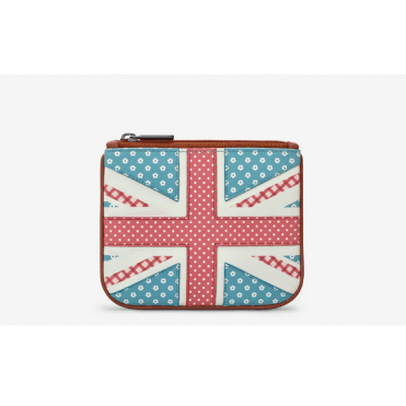 Union Jack Leather Zip top Purse