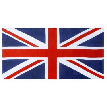 Union Jack 100% Cotton Beach Towel