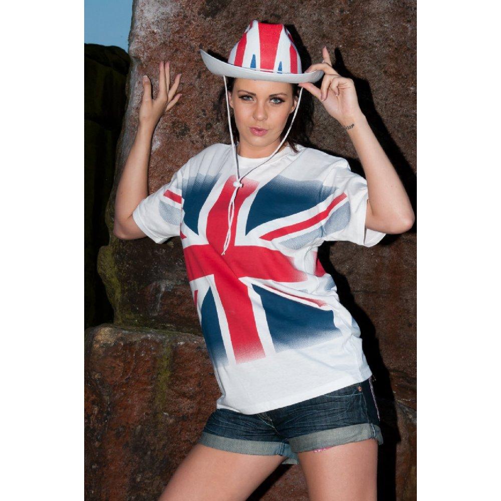 8beaefc1d Ladies Union Jack tee shirts