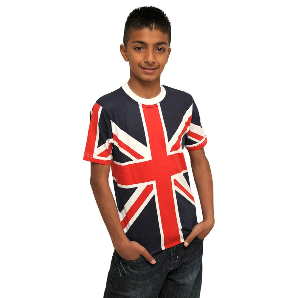 Kids Union Jack T shirt